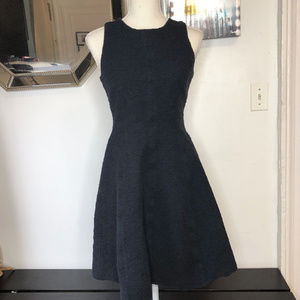 Theory Navy Blue Tweed Peplum Cocktail Dress 4